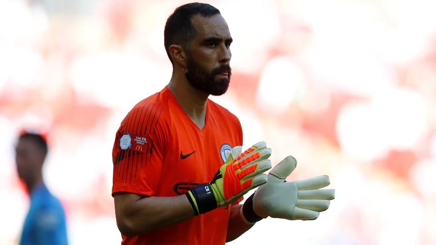 O chileno Claudio Bravo, goleiro do Manchester City - REUTERS/Phil Noble