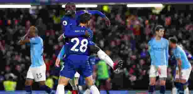 Kanté abriu o placar para o Chelsea contra o Manchester City - REUTERS/Eddie Keogh - REUTERS/Eddie Keogh