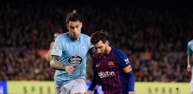 Messi comanda o ataque do Barcelona durante confronto com Celta de Vigo - Josep Lago/AFP
