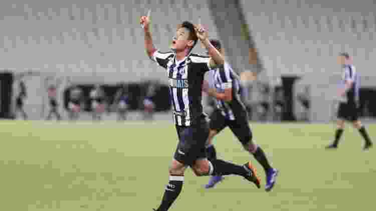 Meio-campista Chico comemora um dos seus quatro gols pelo Ceará na temporada 2019 - Divulgação/Ceará