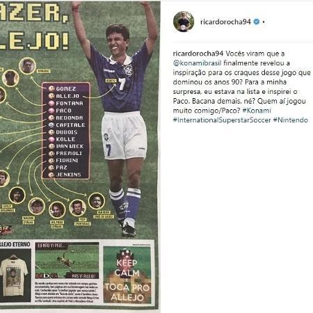 Ricardo Rocha se mostrou surpreso com a revelação de que era o Paco no International Superstar Soccer - Reprodução