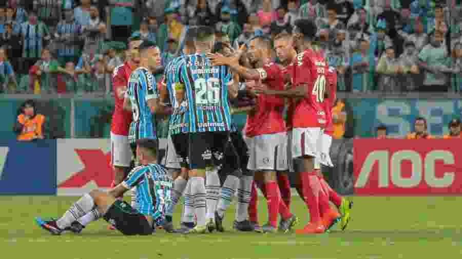 Grêmio e Internacional jogaram na Arena neste domingo pelo Campeonato Gaúcho - Lucas Sabino/Agif