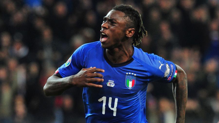 Moise Kean, da seleção italiana, vai enfrentar amanhã a Bósnia, pela Liga das Nações - Jennifer Lorenzini/REUTERS