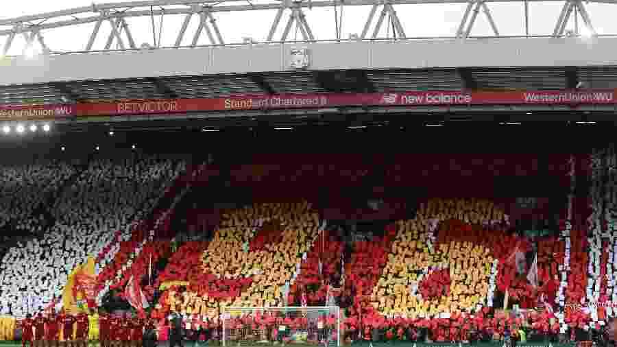 Estádio do Liverpool e de outros nove clubes poderão receber até dois mil torcedores - Lee Smith/Reuters