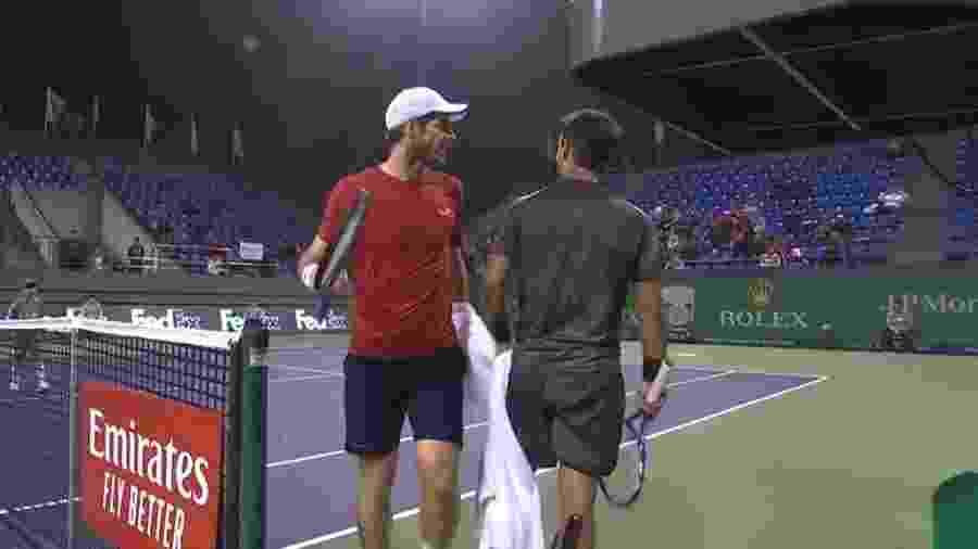 Andy Murray discute com Fabio Fognini no Masters 1000 de Xangai - Reprodução
