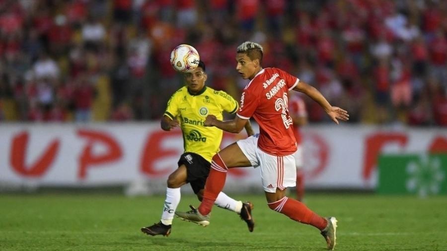 Sarrafiore jogou até metade do segundo tempo em Erechim - Ricardo Duarte/SC Internacional
