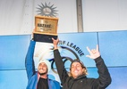 Após sair do BBB, Chumbo é campeão por equipes em disputa de ondas gigantes - WSL / Poullenot