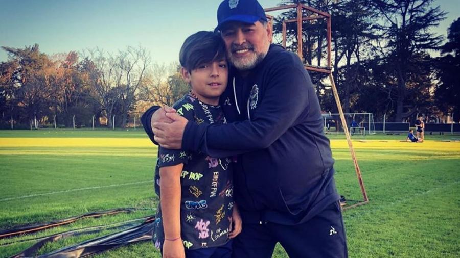 Benjamín é fruto do relacionamento de Gianinna Maradona com Sergio Agüero - Reprodução