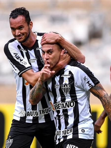 Vargas fez o gesto de silêncio após o gol marcado na partida contra o Boa Esporte - Divulgação/Mineirão