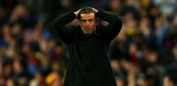 Técnico Luis Enrique foi criticado por rodar pouco seu time titular - Paul Gilham/Getty Images