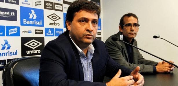 Alberto Guerra (e) e Alexandre Rolim (d) assumem departamento de futebol do Grêmio