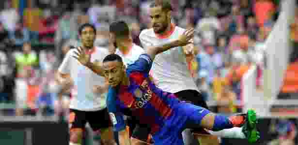 Neymar contra Valencia - AFP PHOTO / JOSE JORDAN  - AFP PHOTO / JOSE JORDAN