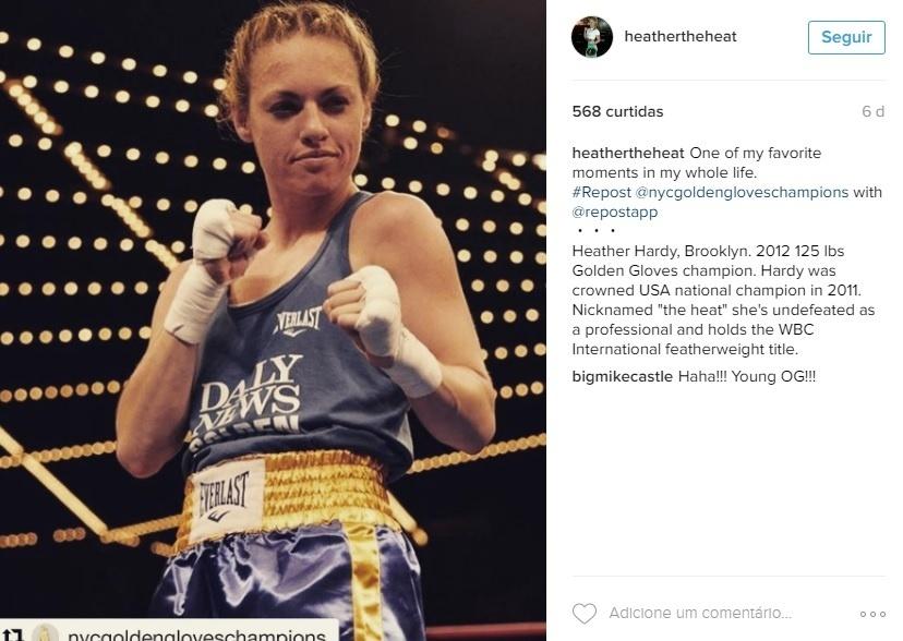 Heather Hardy, campeã de boxe