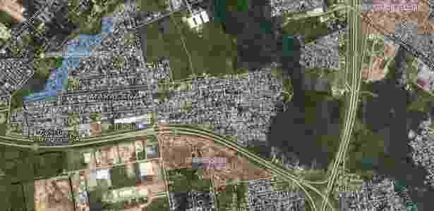 Localização do bairro de Maracaná, no Uruguai - Google Maps/Reprodução - Google Maps/Reprodução