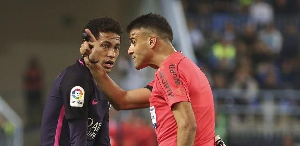 O atacante Neymar durante uma partida do Barcelona