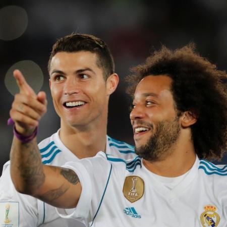 Cristiano Ronaldo comemora com Marcelo o título mundial do Real Madrid - REUTERS/Amr Abdallah Dalsh
