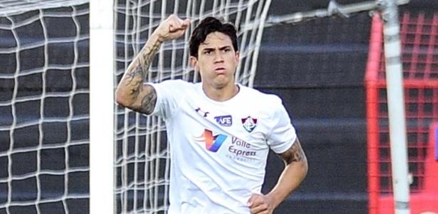 Pedro comemora gol marcado pelo Fluminense contra o Sport - ADEMAR FILHO/FUTURA PRESS/FUTURA PRESS/ESTADÃO CONTEÚDO