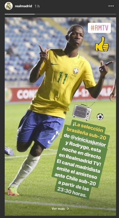 Vinicius Junior Rodrygo Real Madrid seleção sub-20