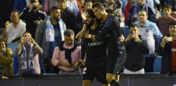 Isco e Cristiano Ronaldo atuaram juntos no Real Madrid de 2013 até a metade de 2018  - Getty Images/Octavio Passos