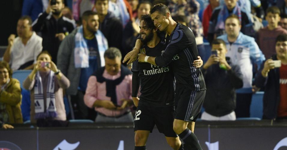 Isco e Cristiano Ronaldo atuaram juntos no Real Madrid de 2013 até a metade de 2018