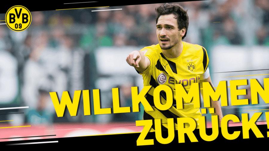 Hummels foi anunciado como novo reforço do Borussia Dortmund - Reprodução/BVB