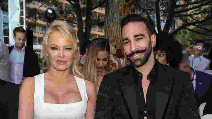 Adil Rami namorava a atriz Pamela Anderson - Arnold Jerocki/Getty Images
