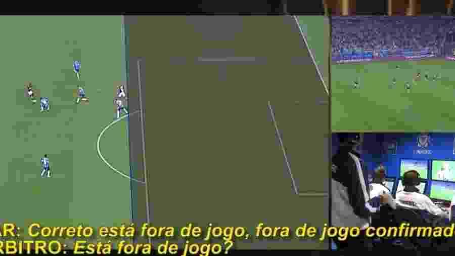 Conmebol revela conversas entre árbitro e VAR em gols anulados do Flamengo - Reprodução