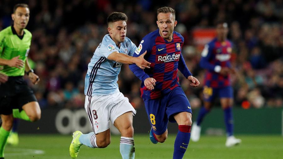 Arthur, do Barcelona, vai para a Juventus em acordo já oficializado - Albert Gea/Reuters