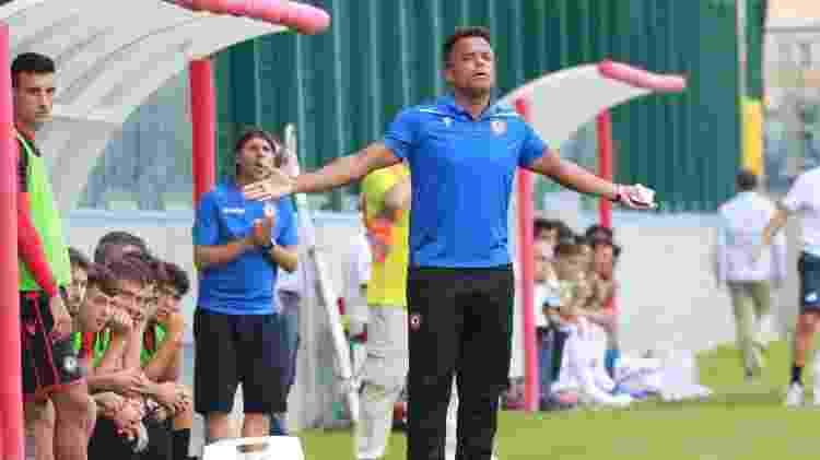 Mancini comandou o Foggia por apenas três partidas no segundo semestre do ano passado - Divulgação/Foggia