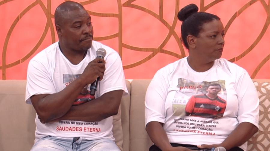 Pais de vítimas do Ninho do Urubu foram ao Encontro, da TV Globo - Reprodução/TV Globo