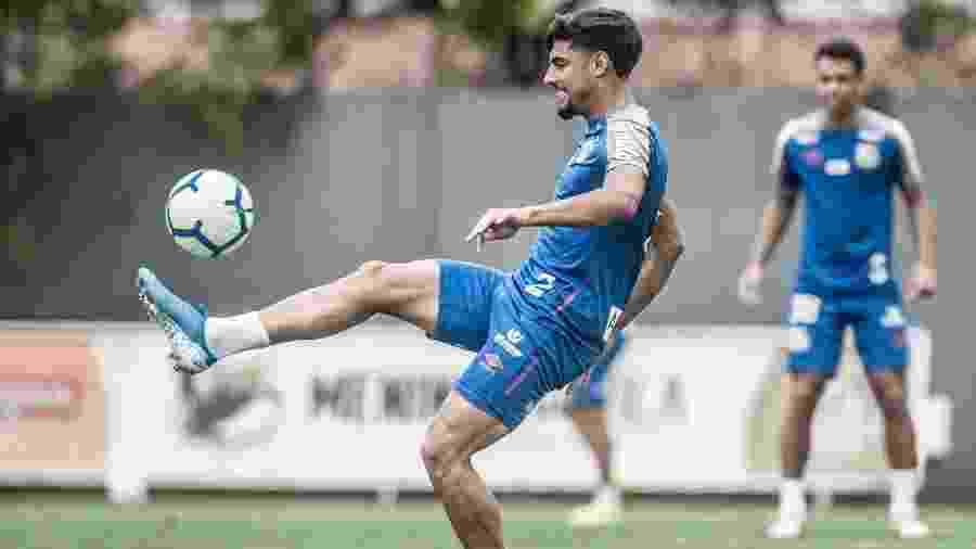 Yuri Alberto domina bola durante treino do Santos - Ivan Storti/Santos FC