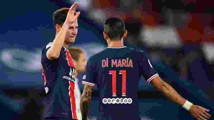 Draxler comemora gol do PSG contra o Metz - FRANCK FIFE / AFP