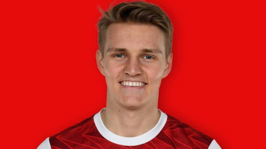 Martin Odegaard, meio-campista do Arsenal - Divulgação/Site oficial do Arsenal
