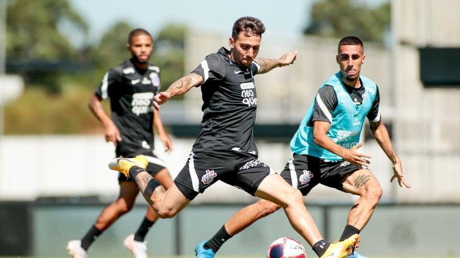 Gustavo Mosquito durante atividade do Corinthians no CT Joaquim Grava  - Rodrigo Coca/ Ag. Corinthians
