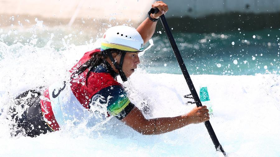 Ana Satila em ação pelo Brasil nas Olimpíadas de Tóquio - Stoyan Nenov/Reuters