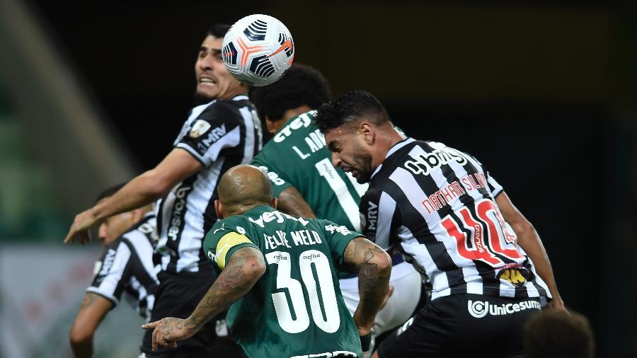 Lance do duelo entre Palmeiras e Atlético-MG - Conmebol