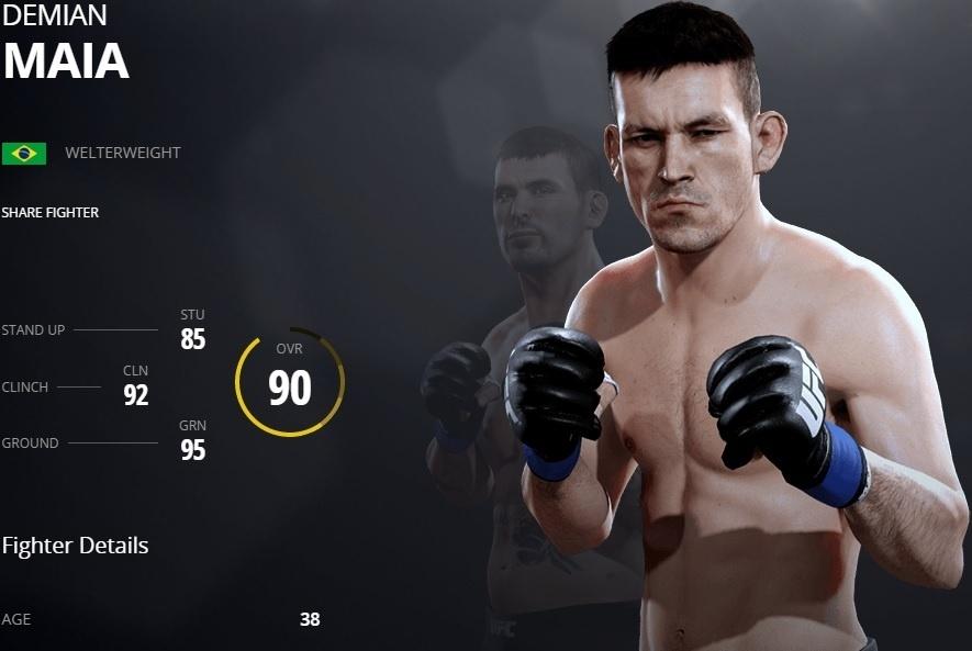 Demian Maia em versão virtual no UFC 2
