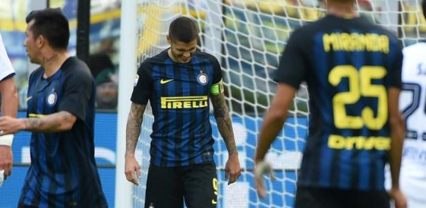 Icardi durante partida da Inter: crise por episódio narrado em autobiografia