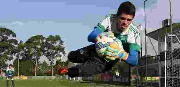 Vinicius Silvestre ganhou a vaga de titular para o duelo na Vila Belmiro - Cesar Greco/Ag. Palmeiras