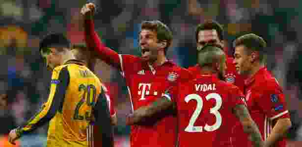 Thomas Müller comemora o quinto gol do Bayern contra o Arsenal - Reuters / Michaela Rehle - Reuters / Michaela Rehle
