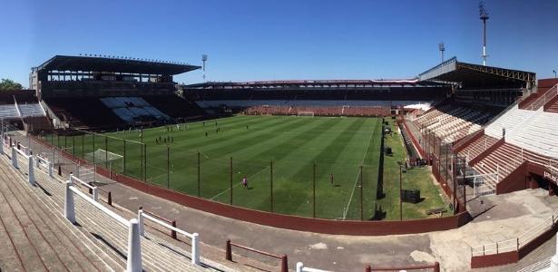 Imagem do estádio La Fortaleza, palco da final da LIbertadores; Grêmio se irritou