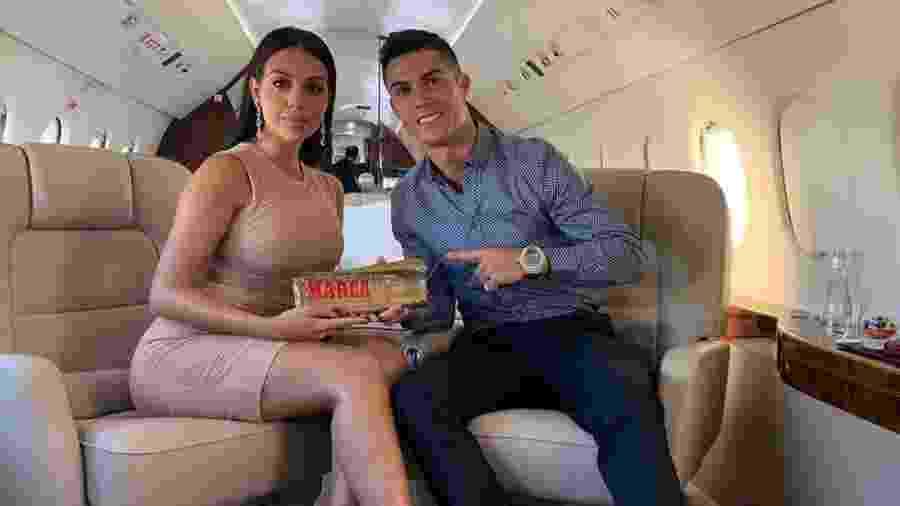 Cristiano Ronaldo ao lado de Georgina Rodríguez  - Reprodução/Instagram