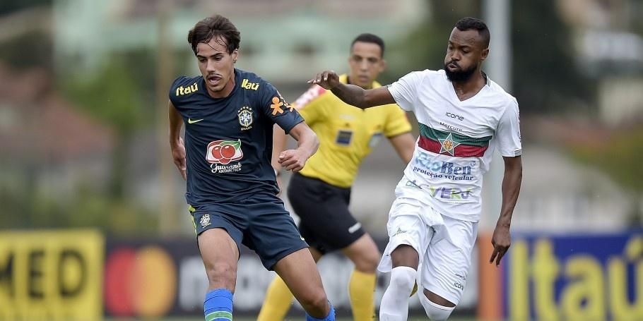 Igor Gomes em jogo-treino da seleção olímpica
