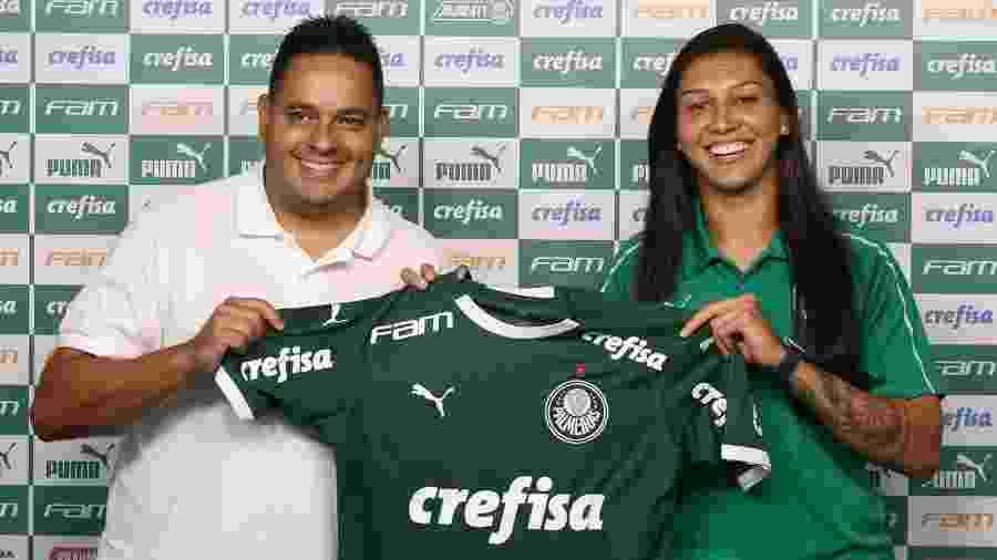 Bia Zaneratto foi apresentada como nova jogadora do Palmeiras - Fábio Menotti/Ag. Palmeiras