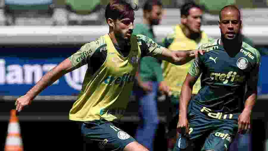 Matías Viña treinou como titular e já está inscrito no Campeonato Paulista - Cesar Greco/Ag. Palmeiras