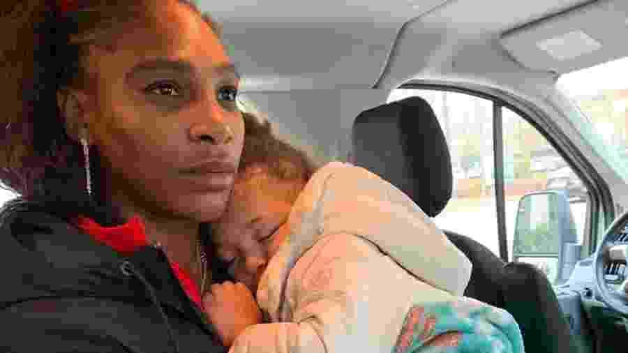 Serena Williams com a filha, Alexis Olympia Ohanian Jr. - Reprodução/Instagram