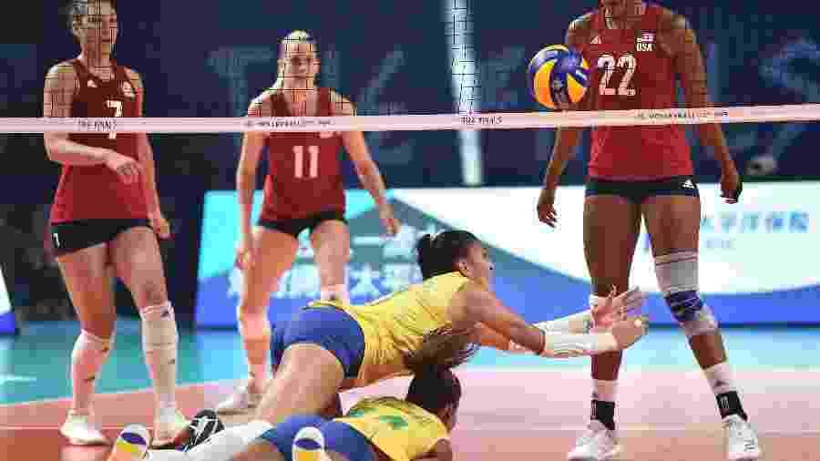 Brasil foi vice-campeão da Liga das Nações de vôlei feminino em 2019; EUA levaram o título - Visual China Group via Getty Images/Visual China Group via Getty Images