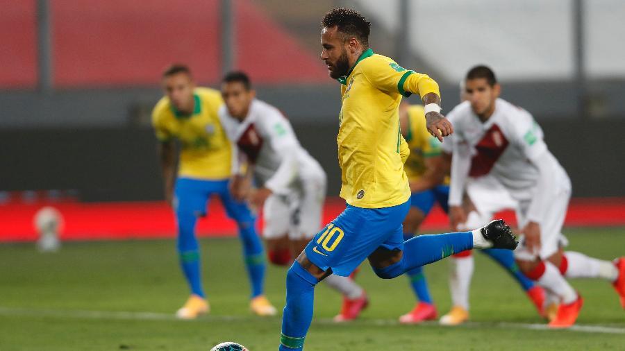 Neymar em ação pelo Brasil - Pool/Getty Images