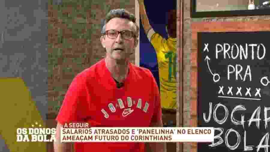 """Recuperado da covid-19, Neto retornou recentemente ao """"Os Donos da Bola"""", da Band - Reprodução/Band"""