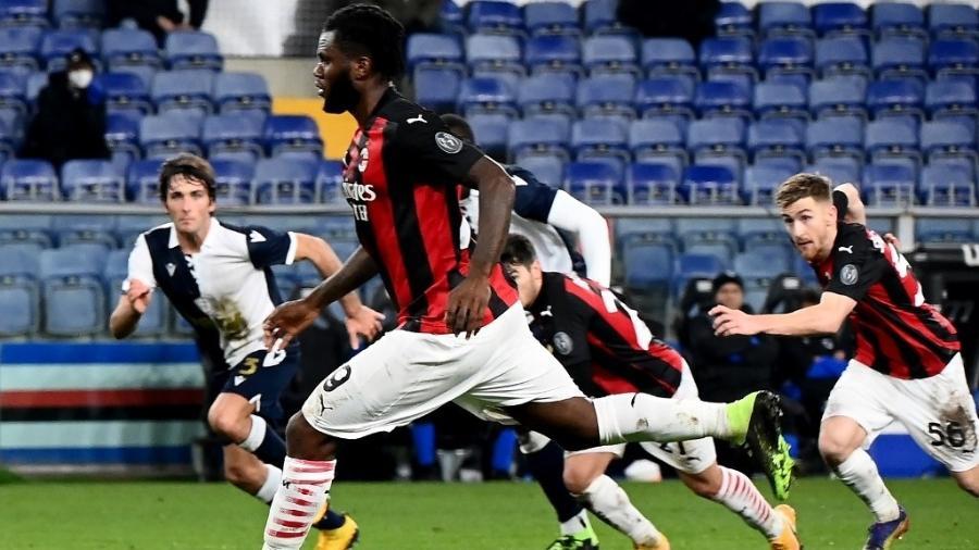 Franck Kessie durante partida do Milan contra a Sampdoria  - Andreas Solaro/AFP
